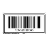Custom ITF-14 Barcode Label