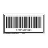 Custom MSI Barcode Label