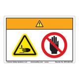 Warning/Crush Hazard Label (WF2-005-WH)