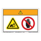 Warning/Entanglement Hazard Label (WF2-010-WH)