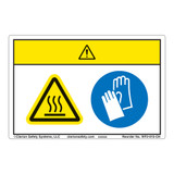 Caution/Hot Oven Label (WF2-015-CH)