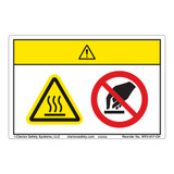 Caution/Hot Surface Label (WF2-017-CH)