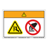 Warning/Burn Hazard Label (WF2-022-WH)