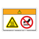 Warning/Hot Surface Label (WF2-025-WH)