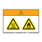 Warning/Burn Hazard Label (WF2-028-WH)