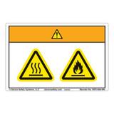 Warning/Burn Hazard Label (WF2-028-WH)