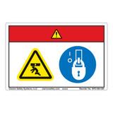 Danger/Crush Hazard Label (WF2-064-DH)