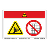 Danger/Entanglement Hazard Label (WF2-087-DH)