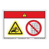 Danger/Entanglement Hazard Label (WF2-098-DH)