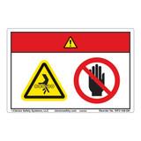 Danger/Entanglement Hazard Label (WF2-108-DH)
