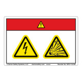 Danger/Electric Shock Hazard Label (WF2-115-DH)