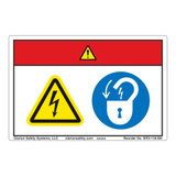 Danger/Hazardous Voltage Label (WF2-118-DH)