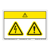 Caution/Electric Shock Hazard Label (WF2-120-CH)