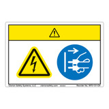 Caution/Hazardous Voltage Label (WF2-121-CH)