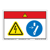 Danger/Hazardous Voltage Label (WF2-124-DH)