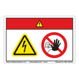 Danger/Hazardous Voltage Label (WF2-126-DH)
