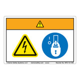 Warning/Hazardous Voltage Label (WF2-131-WH)