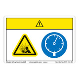 Caution/Pressurized Device Label (WF2-134-CH)