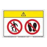 Caution/Do Not Step Label (WF2-142-CH)