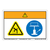 Warning/Lift Hazard Label (WF2-147-WH)
