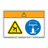 Warning/Lift Hazard Label (WF2-147-WH)