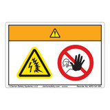 Warning/Arc Flash and Shock Hazard Label (WF2-161-WH)