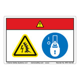 Danger/Arc Flash and Shock Hazards Label (WF2-162-DH)