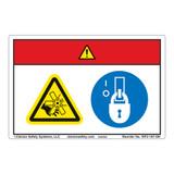Danger/Rotating Blade Label (WF2-167-DH)