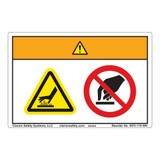 Warning/Hot Surface Label (WF2-172-WH)