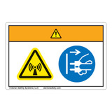 Warning/Radiation Hazard Label (WF2-179-WH)