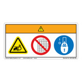 Warning/Entanglement Hazard Label (WF3-005-WH)