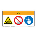 Warning/Entanglement Hazard Label (WF3-013-WH)