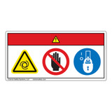 Danger/Equipment Starts Automatically/Stay Clear Label (WF3-018-DH)
