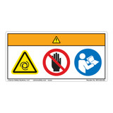 Warning/Equipment Starts Automatically/Stay Clear Label (WF3-020-WH)