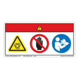 Danger/Equipment Starts Automatically/Stay Clear Label (WF3-021-DH)
