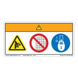 Warning/Crush Hazard Label (WF3-034-WH)