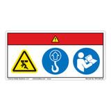 Danger/Crush Hazard Label (WF3-056-DH)