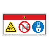 Danger/Rotating Fan Blade Label (WF3-065-DH)