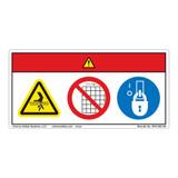 Danger/Entanglement Hazard Label (WF3-083-DH)