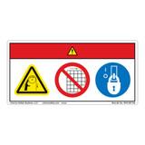 Danger/Entanglement Hazard Label (WF3-087-DH)