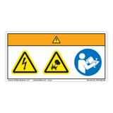 Warning/Electric Shock Hazard Label (WF3-089-WH)