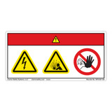 Danger/Electric Shock Hazard Label (WF3-091-DH)