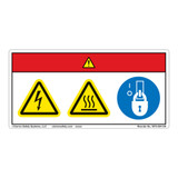 Danger/Hot Surface Label (WF3-094-DH)