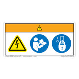Warning/Hazardous Voltage Label (WF3-098-WH)