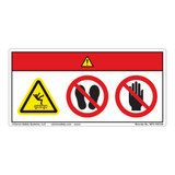 Danger/Keep Off Conveyor Label (WF3-100-DH)
