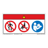 Danger/Do Not Step Label (WF3-101-DH)