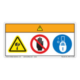 Warning/Cut Hazard Label (WF3-112-WH)
