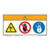 Warning/Cut Hazard Label (WF3-112-WH)