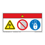 Danger/Cut Hazard Label (WF3-120-DH)