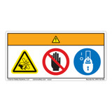 Warning/Rotating Blade Label (WF3-125-WH)